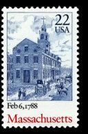 USA, 1988, Scott #2341, Ratification Of The Constitution, Massachusetts,  MNH, VF - United States