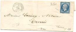 Eure Et Loir - Pont De L'arche Pour Ecouis. PC 2501 + CàD Type 15. Indice 5 - Marcophilie (Lettres)