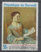 Burundi 1968. Scott #C87 (U) Mademoiselle Lavergne, By Jean Etienne Liotard - 1962-69: Oblitérés