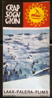 CRAP SOGN GION, LAAXER SKIWOCHEN 1973, BROCHURE WITH MAP, PRICELIST, TOURIST INFO AND POSTCARD - Reiseprospekte