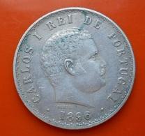 Portugal 500 Reis 1896 D. Carlos I Silver