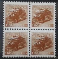 Lebanon 2001 Mi. 1403C MNH 1100L Bright Variety Perf 11 - Blk/4 - Libanon