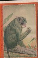 CPA Singe à La Banane  Dessin Signé Liezard  1930- Exposition Coloniale Internationale De Paris 1931   2016 1787 - Illustrateurs & Photographes