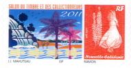 Nouvelle Caledonie Timbre Personnalise Officiel De L'OPT Pour Salon Collectionneurs Aout 2011 Neuf UNC - Nouvelle-Calédonie