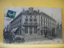 37 543 - TOURS - LE THEATRE FRANCAIS - 1909 - ANIMATION AUTO - Tours