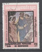 Kampuchea 1983, Scott #404 Parnassus Details: Dante Ennius Homer, By Raphael (1483-1520) (U) - Kampuchea