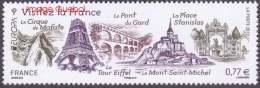 France N° 4661 - CEPT - EUROPA 2012 - Visitez La France -> Tour Eiffel, Arc De Triomphe, Mont St Michel, Etc - Nuovi