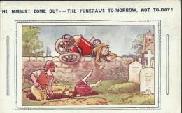 "Bamforth & Co. ""Auto Comics Series"" Postcard - No. 6027 ´Hi. Missus!  ...´ - Unused - W 500 - Humour"