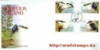 50% DISCOUNT WWF - NORFOLK ISLAND - 2004 - Local FDC - 4 Stamps On 1 FDC - W.W.F.