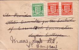 GUERNESEY - BEL AFFRANCHISSEMENT AVEC UNE PAIRE DU 12 MARS 1942. - Guernesey