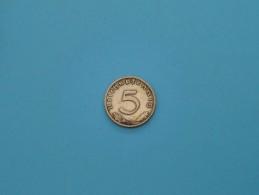 1938 D - 5 Reichspfennig - KM .. ( For Grade, Please See Photo ) ! - 5 Reichspfennig