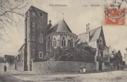 DINAN Eglise Anglicane Face Au Collége Broussais Timbrée Circulée 1912