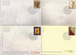 CG 2013-1 ART IN MONTENEGRO TROUGH CENTURY, CRNA GORA MONTENEGRO, 4FDC - Montenegro