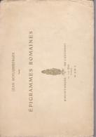 Avec ENVOI, POESIES, Jean Schlumberger. Epigrammes Romaines,. 1910 - Poésie