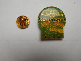 Beau Pin´s , Intérim Manpower CCE , Travail Temporaire - Pin's