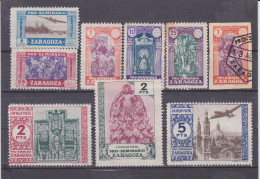 Espagne, ZARAGOZA, Lot De Timbres * Avec Adhérance , Vendu En L'état( 1607/11) - Wohlfahrtsmarken