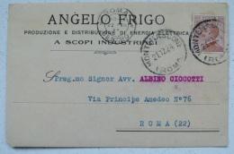 MONTEFIASCONE VITERBO - ANGELO FRIGO PRODUZIONE E DISTRIBUZIONE DI ENERGIA ELETTRICA - PUBBLICITARIA 1924 - Viterbo