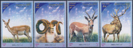 MDA-BK2-032-2 MINT PF/MNH ¤ IRAN REP. 2003 4w In Serie ¤ WILD ANIMALS - MAMMALS - DEER - GAZELLE - URIAL - Gibier