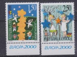 Europa Cept 2000 Bosnia/Herzegovina Serbia 2v  (+margin) ** Mnh (30930) - Europa-CEPT
