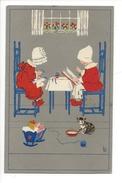 14910 - Yougoslavie Beograd  Enfants  Berceau Chat Signé L.D. - Illustrateurs & Photographes