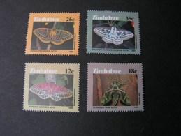 == Zimbabwe , Motten Schmeterlinge , Buterflies ** MNH  344-347  €  13,00 - Zimbabwe (1980-...)