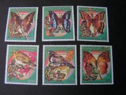== Komoren  Schmeterlinge Butterflies  878-883  **/MNH  € 17,00 - Komoren (1975-...)