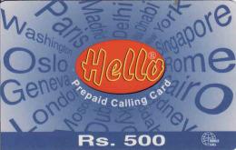 Pakistan Prepaid 500 RS. Card Hello Pak Telecom - Pakistan