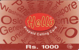 Pakistan Prepaid 1000 RS. Card Hello Pak Telecom - Pakistan