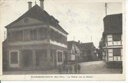 SCHWINDRATZHEIM - LA MAIRIE RUE DU MOULIN  ( Animées  ) - Frankrijk