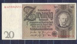 Germany - 1929   - 20  Mark  B/A .P-181a ...R 174a,, XF - 50 Reichsmark