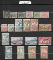 Lot De 20 Timbres Différents GUYANE  ~  émis De 1892 à 1945  Colonie Française