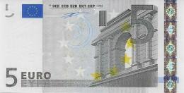 Billet De 5 €uros 2002 Signature Wim Duisenberg TRÈS RARE DANS CET ÉTAT - 5 Euro