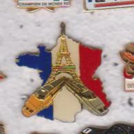 Pin's TGV SUR CARTE DE FRANCE - TGV