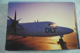 AIRLINES ISSUE / CARTE COMPAGNIE    DLT  FOKKER 50 - 1946-....: Moderne