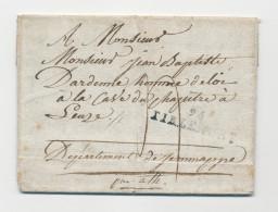 Lettre Précurseur 1807 JODOIGNE Via 94 TIRLEMONT Vers LEUZE Par ATH - Verso 86 ATH En Déboursé --  WW836 - 1794-1814 (French Period)
