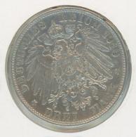 3 Mark Silber Argent Württemberg 1910 - 2, 3 & 5 Mark Argent