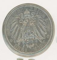 3 Mark Silber Argent Preussen Preußen 1909 - 2, 3 & 5 Mark Argent