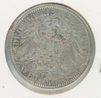 2 Mark Silber Argent Preussen Preußen 1904 - [ 2] 1871-1918 : Empire Allemand