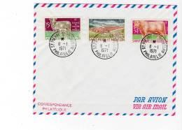 St Pierre Et Miquelon - ENVELOPPE Philatélique - N°407/9 - ELEVAGES - 1970 - St.Pierre Et Miquelon