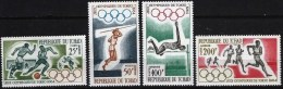 TCHAD Jeux Olympiques (olympic Games) TOKYO 64. Yvert PA 18/21 **MNH , - Summer 1964: Tokyo