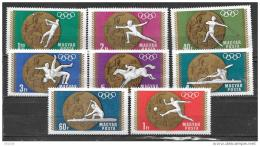 HONGRIE Jeux Olympiques (olympic Games) MEXICO 1968. Yvert 2020/27. ** MNH , Neuf Sans Charniere - Summer 1968: Mexico City