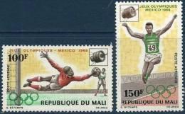 MALI Jeux Olympiques (olympic Games) MEXICO 68. Yvert PA 62/63 **MNH , - Verano 1968: México