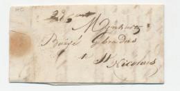 Lettre Transportée Hors Poste 1838 - LOKEREN à ST NICOLAES - Porto 23 Cents - Signé Vandamme  --  WW840 - 1830-1849 (Belgique Indépendante)