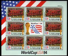 St Vincent 1994 Kleinbogen/Minisheet Football/Soccer World Cop USA SPECIMEN Mnh Morocco - World Cup