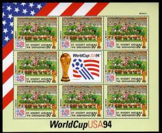 St Vincent 1994 Kleinbogen/Minisheet Football/Soccer World Cop USA SPECIMEN Mnh Mexico. - World Cup