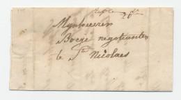 Lettre Transportée Hors Poste 1843 - BOOM à ST NICOLAES - Porto 20 Cents - Signé Weduwe Best  --  WW843 - 1830-1849 (Belgique Indépendante)