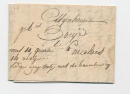 Lettre Transportée Hors Poste 1833 - ST AMAND à ST NICOLAES - Signé De Cock  --  WW844 - 1830-1849 (Belgique Indépendante)