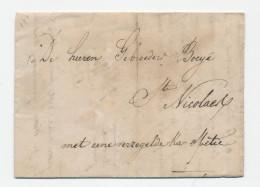 Lettre Transportée Hors Poste 1836 - DENDERMONDE à ST NICOLAES - Signé Weduwe De Zeeuw  --  WW846 - 1830-1849 (Belgique Indépendante)