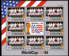 St Vincent 1994 Kleinbogen/Minisheet Football/Soccer World Cop USA SPECIMEN Mnh Bulgaria. - World Cup