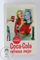 Advertising Coca Cola Pocket Calendar 1966 Spain - Pin Up Lady - Edited: Heraclio Fournier Vitoria, Spain - Calendarios
